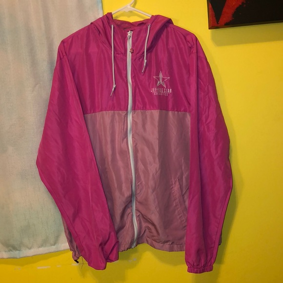 Jeffree Starr cosmetics pink windbreaker